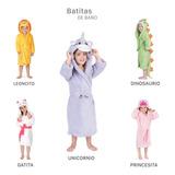 Bata De Baño Esquimal *ultrasecado* Para Niños De 3 A 6 Años