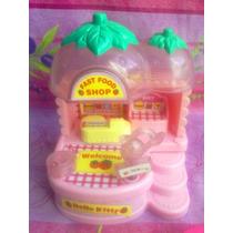 Hello Kitty Set De Restaurant Comida Rapida Miniatura