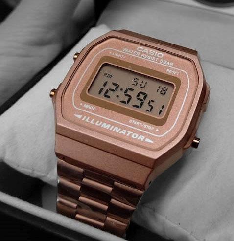 9a9bd9553ca9 Reloj Casio Rosa Mate A168 Vintage Moda Rtetro