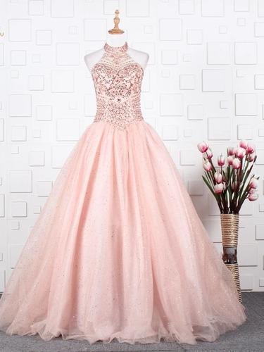 Vestido Xv Años Rosa Con Cristal En Venta En San Luis Potosí