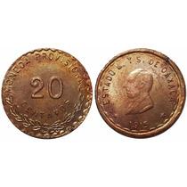 20 Centavos Oaxaca 1915. Cobre Canto C