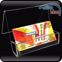 Porta Tarjetas De Presentación En Acrilico 3mm