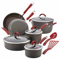 Bateria De Cocina Rachael Ray Cucina Anodizado Duro 12 Pzas