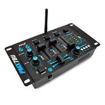 Pyle Pmx7bu Bluetooth 3-channel Dj Mixer Mp3 Mic-talkover Fl