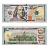 Billetes De Dólar Para Juegos 100 Piezas