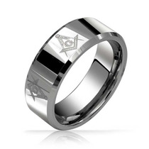 Bling Jewelry Para Hombre De Tungsteno Anillo Símbolo Masó