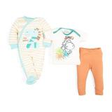 Conjunto Con Mameluco Baby Colors Beige Pr-5405342