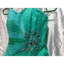 e8db5f365 Vestido De Fiesta Para Niña Talla 12 Color Verde Agua en venta en ...