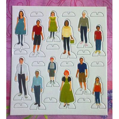 Lamina Con Figuras Personas Normales Para Maqueta - $ 150