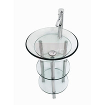 Esatto® Mueble De Baño Lavabo Repisas Cristal Llave Mv-002