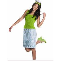 Disfraz Oscar Elmo Plaza Sesamo Mujer Talla Chica Small 4/6