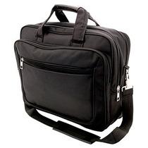 Portafolios Con Asa Color Negro Y Porta Laptop.