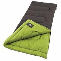 Sleeping Bag Duck Harbor Verde Rectangular Algodon Coleman
