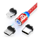 Cable Usb Magnetico 3 En 1 Micro Usb Tipo C iPhone 1 Metro