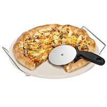 Vonshef 15 Pulgadas De Cerámica Pizza Piedra Conjunto Con He