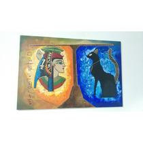 Cuadro Decorativo Arte Egipcio 60x90 Acrilico Sobre Lienzo