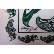 Set 4 Porta Vasos Anthony Joseph Salish Indian Artist Canada