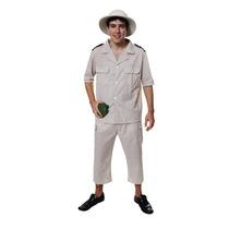 Disfraces Safari - Adultos Hombres Explorador Del Vestido De
