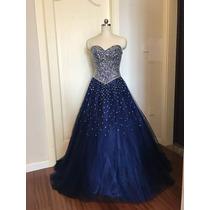 52c8dee3c9 Vestido Xv Años Azul Oscuro Envió Gratis ! Q-180904006 en venta en ...