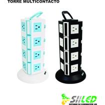 Multicontactos De 16 Puertos Con 2 Usb Y Boton Sobrecarga