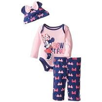 Disney Baby-girls Bow-tiful Minnie Mouse 3 Piece Set