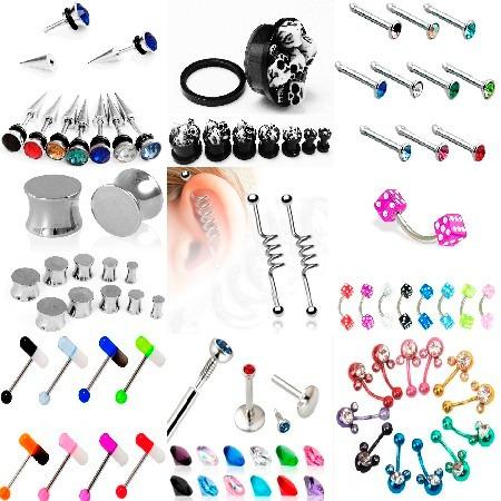 703f7844ea39 Body Piercing Joyeria Acero Expansor Labio Simulador Nariz en venta ...