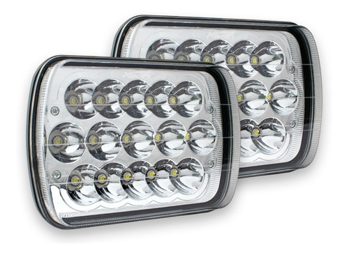 Par Faros Led Rectangular Unidad 5x7 Epistar 45w H4 6054