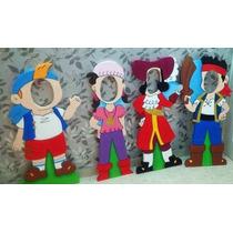 Jack El Pirata Personajes De Madera Para Fotos Marcos