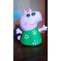 Recuerdos Alcancias Peppa Pig Paq. 12 Pzas Pintada A Mano