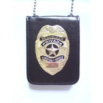Placa De Seguridad Privada Tipo Policia Federal Modelo 02