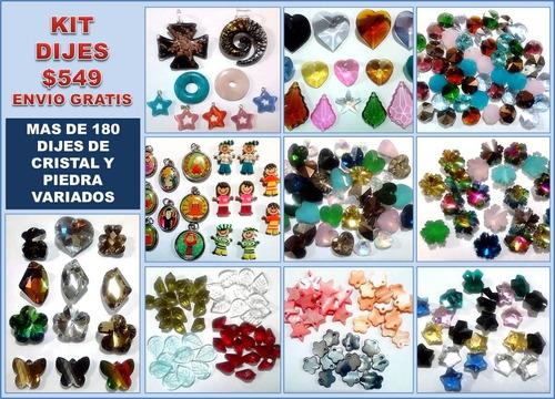 9ae6e8daea34 Kit De Dijes De Cristal Variados Para Joyería Y Bisutería