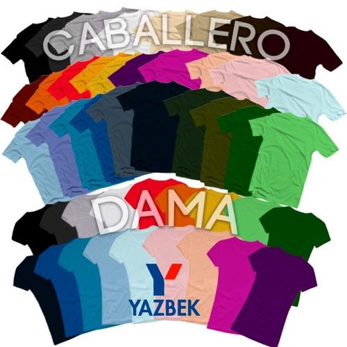 Playeras Yazbek Originales Algodon 40 Colores Disponibles!!! 2670549b1a3db