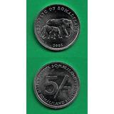 Grr-moneda De Somalilandia 5 Shillings 2005 - Elefantes