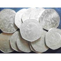 Una Moneda 10 Pesos Hidalgo Niquel Usado