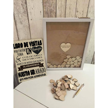 Arbol De Firmas En Corazones Para Boda, Xv, Baby Shower