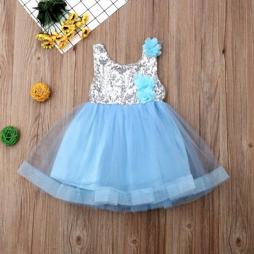 f448d05e40837 Vestido Nina Cumplea os paje fiesta Talla (1- 4 Años ) en venta en ...