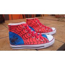 Tenis Converse Personalizados Spider Man Marvel Arte Iph