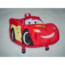 Peluche Mochila Dulcero De Rayo Macqueen Cars Disney Calidad