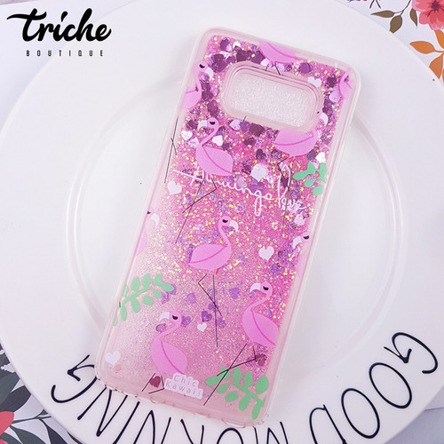 a618a21f893 Funda Case Brillos Pecera Rosa Diseño Flamingos Galaxy S8 en venta ...