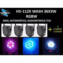 Paquete Hv-112x Wash 36x3w Rgbw Sun Star
