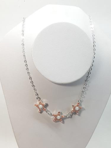 dd7161d76b84 Collar Y Aretes De Estrella De Mar Plata Ley .925