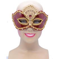 Masquerade Costume - Rojo Brillante Decorativo Gf Señoras D
