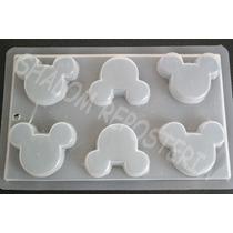 *molde Mediano Gelatinas Jabones 6 Siluetas Mickey Mouse 2*