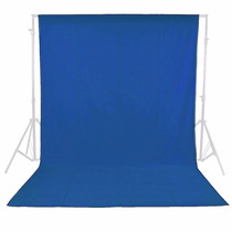 Muselina Telón Fondo Azul Sin Fisuras Neewer 3 X 6 Mts
