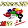 Pulsera De Silicón Usb Memoria De 16gb Modelo Slap On
