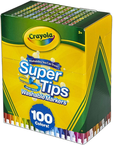 100 Plumones Crayola Originales Super Tips Lettering Lavable