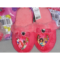 Disney Pantunflas Princesas Import Mex.#20 Usa 13 L 21. Cm.