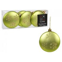 Decoración De Navidad - Colgante Disco Árbol Ribetes Matt