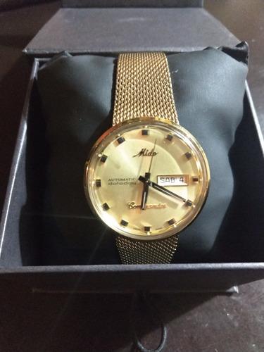 de1ec67dd64b Reloj Mido Commander Automatico  Dorado Para Caballero en venta en ...