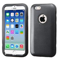 Funda Protector Apple Iphone 6 Mixto Negro Carbon Triple Lay